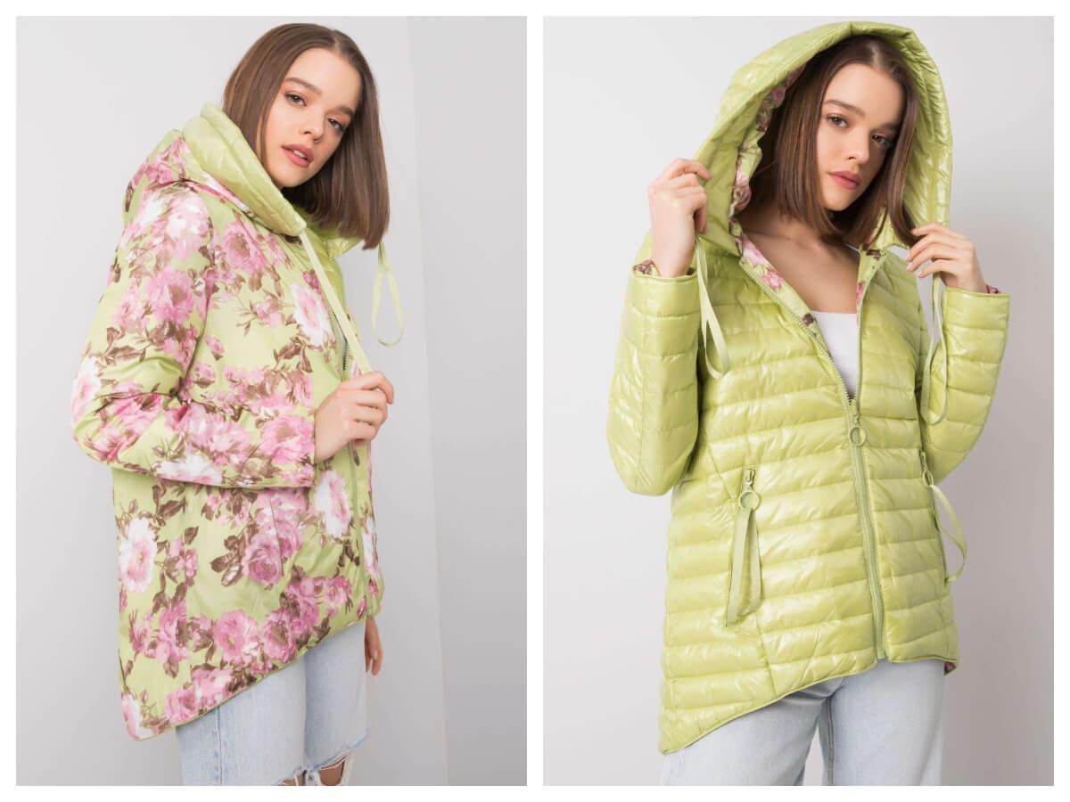 kurtka pikowana na wiosnę w jasnych kolorach